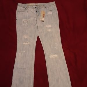 Mossimo size 17 Distressed Jeans